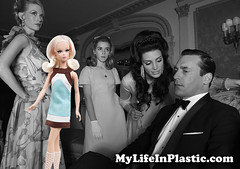 OMG! @MadMen_AMC Sally Draper IS Kitty Corner Francie! (MyLifeInPlastic.com) Tags: men corner doll barbie kitty sally cousin mad mattel francie shipka draper kiernan silkstone amctv