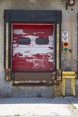 (Pandella Burns) Tags: door old city amanda toronto ontario canada peeling paint panda doors decay garage may entrance burns portfolio 2013
