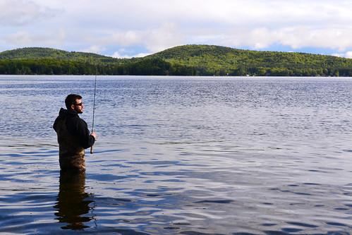 George fishing