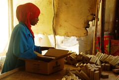 The Somaliland meat development association (SOMDA) makes soap and jewellery from animal waste (United Nations in Somalia) Tags: soap fat jewellery camel bones waste somalia somaliland