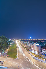 MIPEC view (duyanhluu) Tags: streetcorner urban nightphotography cityscape light skycraper longexposure hanoi long bien river vietnam