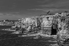 Cliffs (marcos_casado90) Tags: cliffs acantilados landscape blackandwhite blancoynegro paisaje sea mar agua water