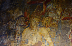 OVER 2000 YEARS...! A PAINTING LASTS FOR EVER. (GOPAN G. NAIR [ GOPS Photography ]) Tags: gopsorg gops gopsphotography photography gopangnair gopan ajanta caves buddhist buddha bodhisattva padmapani mural painting india