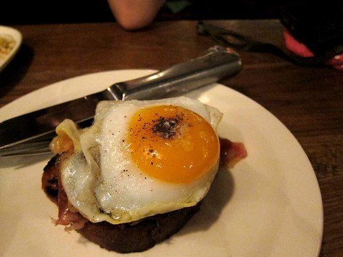jamon serrano, oyster mushroom, fried egg