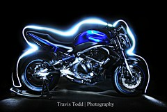 DSC_0041 (spdu4ia) Tags: light painting with led motorcycle flashlight kawasaki kawi er6n strobist