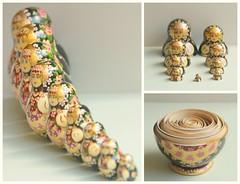 165/365 matryoshka (SarahLaBu) Tags: doll triptych 365 matryoshka nestingdoll stackingdoll 365project 2011inphotos sarahlabu