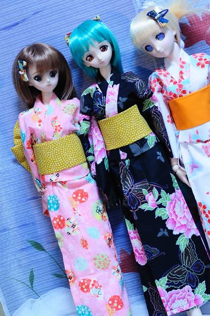浴衣3人娘