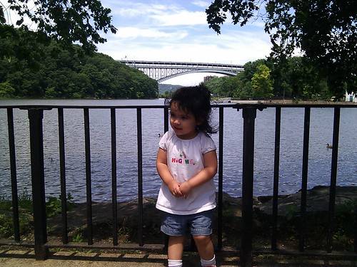 Emily and the Henry Hudson Bridge