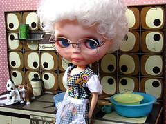 Kitchen 1 (ladynoir63) Tags: grandma doll blythe custom granny basaak