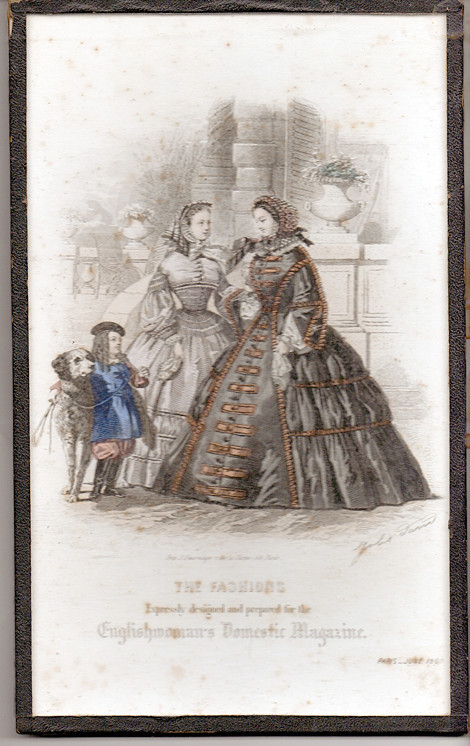June 1860 Paris Fashions from English Domestic Magazine