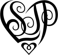 """""""LSJP"""" Heart Design"""