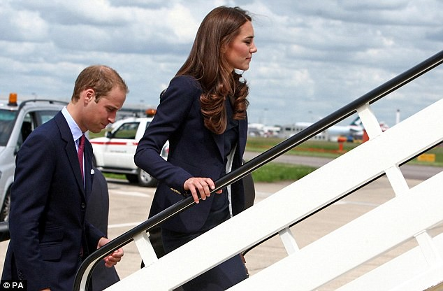 Prince William and coordinated Kate board plane to Canada as ten-day royal tour begins   2