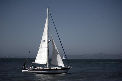 blue water sailboat boat