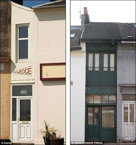 World's narrowest house which is crammed into an alleyway is just 60 INCHES wide and hasn't even got room for stairs 1