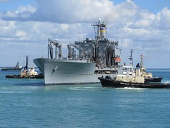 USNS Rappahannock (T-AO-204), a Henry J. Kaiser-class underway replenishment oiler operated by the Military Sealift Command to support ships of the United States Navy, Darwin Harbour, Darwin, Northern Territory, Australia. (Michael J. Barritt) Tags: australia darwin northernterritory unitedstatesnavy darwinharbour usnsrappahannock tao204 militarysealiftcommand supportships henryjkaiserclass michaeljbarritt underwayreplenishmentoiler
