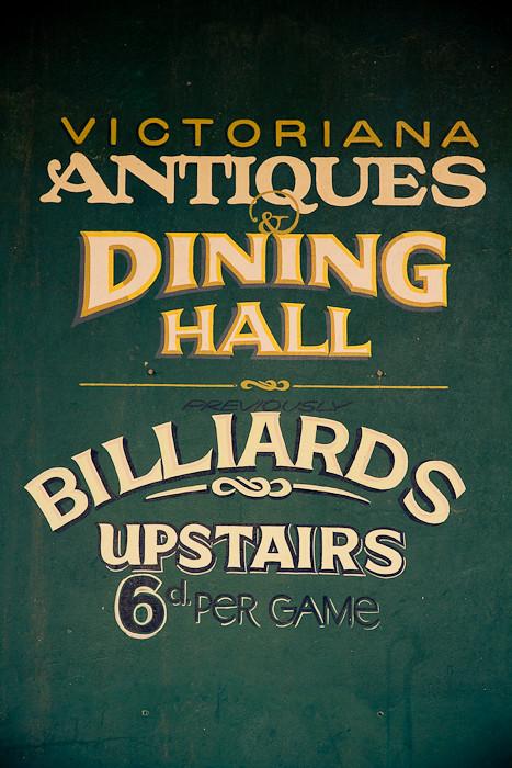 Antique store signage