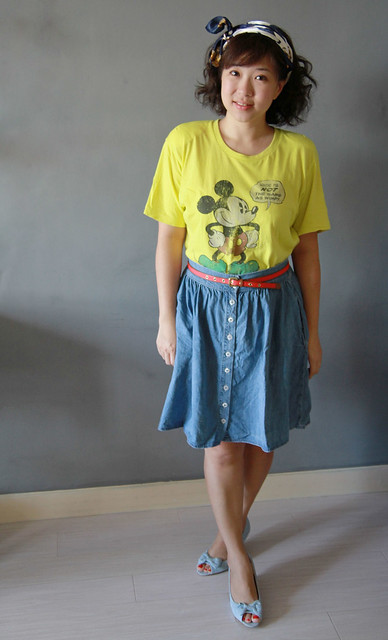 Uniqlo Vintage Inspired Mickey Mouse Tee
