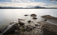 Mountain Lake, nn (kkorsan) Tags: longexposure lake water landscape nikon rocks sweden sverige jmtland re sigma1020mm 2011 d90 hoyandx400 nn nnsjn dblringexcellence tplringexcellence eltringexcellence