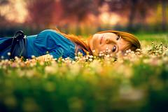 Fairy tale (Fabio Sabatini) Tags: red blur green leaves daisies spring haze bokeh mena  bokeaji