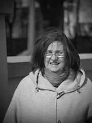 Wind (JuliSonne) Tags: street people berlin women wind streetphotography menschen frau kalt windig brillentrger streetfotografie