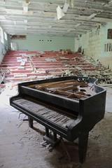 Music recital hall (Kitten of DOOM.) Tags: school music abandoned europe piano ukraine urbanexploration 80s disaster soviet 70s ghosttown derelict sovietunion 2012 ussr chernobyl musicschool urbex recitalhall pripyat canon7d