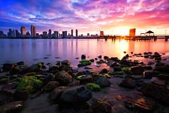 San Diego Color Splash (boingyman.) Tags: ocean california ca travel seascape clouds sunrise canon buildings landscape long exposure cityscape sandiego nd 1022 waterscape coronadoisland bw110 t2i 10stopnd 10stopper boingyman