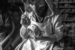Painting (davidascoli) Tags: bw detail composition ceramic blackwhite nikon arte guatemala paiting pintura artesania d800 blanconegro artesano guatemalanartisan artbyhands firmhands