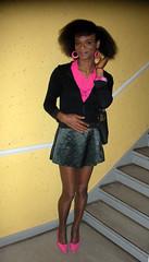 Mi Jamae'can hair-daeh 2 (Lisa/Anders - Ninja Transvestit Danmark) Tags: pink skirt tgirl tranny transvestite trans ebony nylon ladyboy shortskirt mulatto transvestit mulat