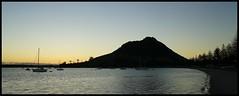 The Mount sunset 17-05-14 (kiwinz) Tags: sunset newzealand volcano northisland yachts bayofplenty themount pilotbay norfolkpines sonya7