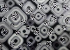 Pattern Drops (nikagnew) Tags: white black macro glass paper droplets drops pattern refraction waterdroplets