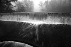 a blur to the abyss (Explore) (glhs279) Tags: blackandwhite bw mist motion blur blancoynegro water misty fog nikon essexcounty foggy surreal verona spillway d600 veronapark neutraldensity