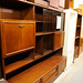 Teak stained tall sideboard