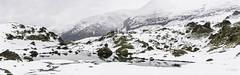 Lacs des Aires - Cirque de Troumouse (Krap) Tags: mountain lake snow france ice nature montagne trek nikon lac panoramic neige cirque pyrenees pyrnes panoramique randonne d90
