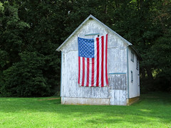 Americana (Multielvi) Tags: monkton maryland md american flag old glory building shed harford county pike jarretsville rural