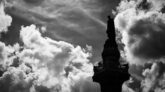 Project 366 - 270/366: King Leopold I is watching you! (sdejongh) Tags: 270366 366 architecture backlight belgium blackandwhite brussels city clouds column congress contrast first king leopold monochrome project project366 royal sky urban
