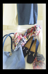 I might wear today (Wendy:) Tags: odc bag shoes blue dress scarf