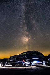 Arrived from the past or from the future? Hmmm... (ToxicPhoto89) Tags: night skoda car auto nacht milchstrase milkyway star stars stern sterne galaxy galaxie astro