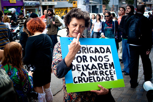 Thank you for letting us exposed to cruelty -   SlutWalk São Paulo. Picture by Leandro Pena on Flickr (CC BY-NC-SA 2.0)