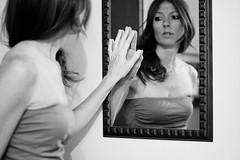 No regrets (Manuela Mazzola) Tags: selfportrait 50mm mirror blackwhite hand mani mano autoritratto biancoenero specchio canon50d