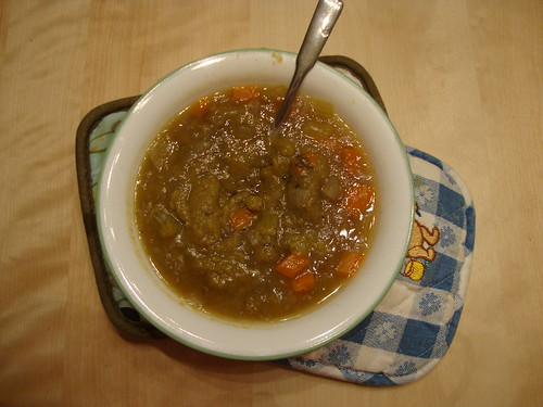 split pea soup from Prevention Slow Cooker recipes