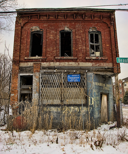 abandoned historic building in Detroit (