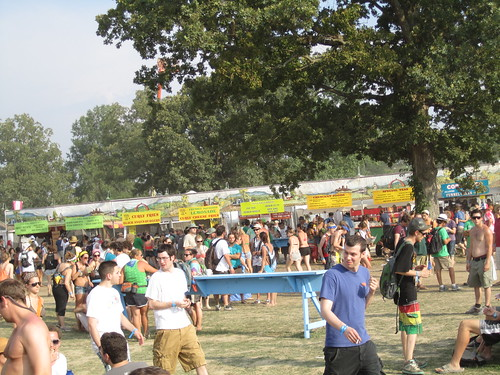 There was a ridiculous amount of food at Bonnaroo. A huge variety. And so many vegetarian options.