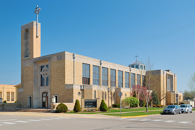 Saint Paul Roman Catholic Church, in Highland, Illinois, USA - exterior