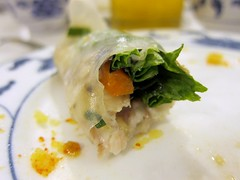 Rice paper wrapped Catfish
