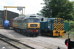 Class 47 and Class 03 (James F Clay) Tags: heritage train track diesel engine rail railway trains somerset brush steam northstar westsomerset wsr westsomersetrailway class47 type4 heritagerailway d1661