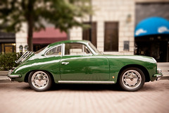 When I'm Sixty Four (Rudy Malmquist) Tags: green classic sports car sport ferry vintage four automobile downtown stuttgart michigan c rear engine shift grand 64 rapids ferdinand porsche mounted vehicle parked tilt coupe ts lemans sixty 1964 carrera 356 tiltshift sixtyfour e24