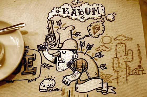 dibujos hechos en servilletas