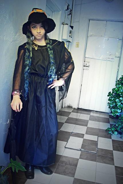 light baby black cute halloween girl night cat dark pumpkin costume outfit nice dress little cosplay witch small niña kawaii littlegirl witches fancydress dressed pequeña obscure nochedebrujas