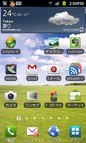 Notification Bar of Galaxy SII
