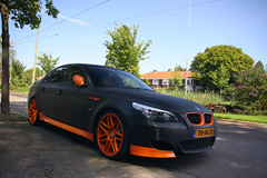BMW M5 (Niels de Jong) Tags: orange black netherlands sport canon matt eos design rotterdam sigma wrap commons super explore bmw carbon jd bugatti 18200 m5 customs veyron supersport fibre tuned supersports explored nielsdejong 1000d jdcustoms mattcarbon ndjmedia